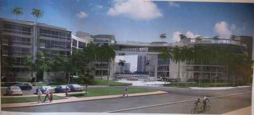 Rendering of the proposed apartment complex.