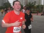 Running hard.