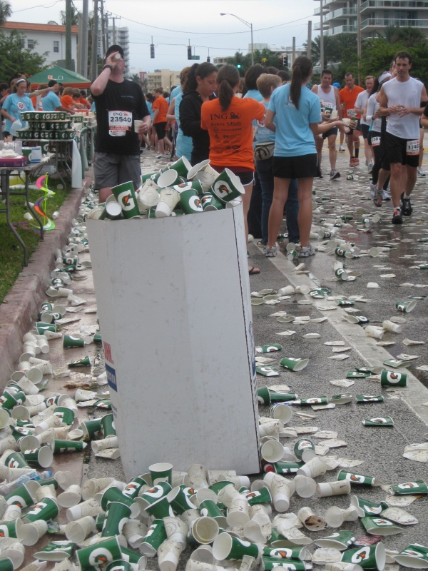 Amazingly, this was all cleaned up an hour after the last runner passed.