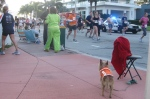 Belle Isle residents and pets cheered the runners.
