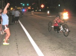 One of the first wheelchair runners reaches Belle Isle.