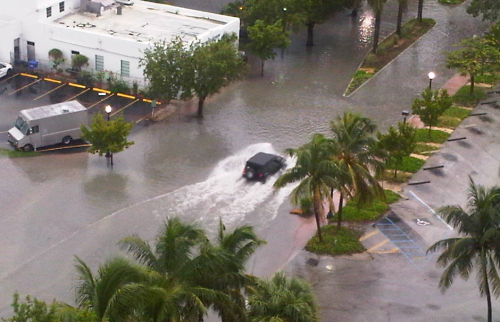Flooding on 20th Street inSunset Harbour.