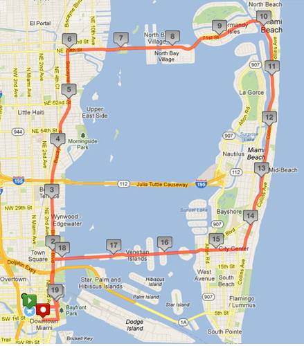 Here the path of Friday's ride.