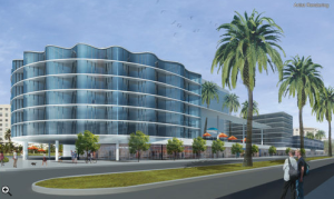 Rendering of proposed rental/retail at South Shore.
