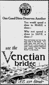 When the Venetian opened, tolls cost a dime.