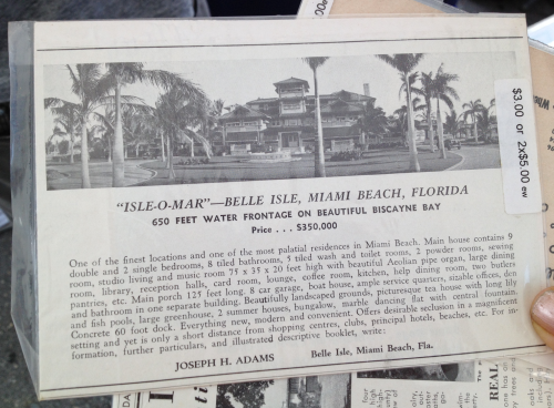 The Adams estate made way for Belle Towers and Belle Plaza.