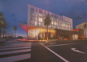 Rendering of proposed Marriott hotel