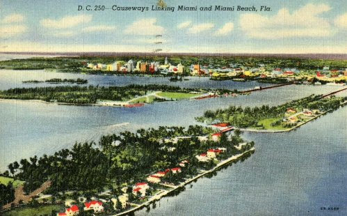1939 view of Biscayne coast, from east to west.