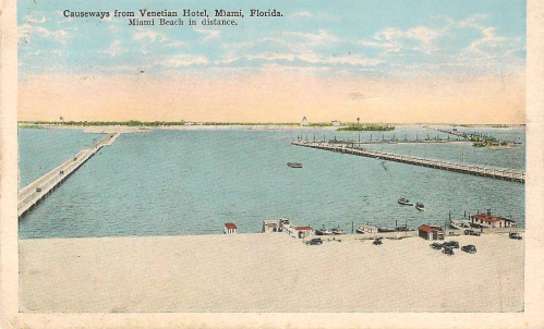 This postcard, mailed in 1938, appears pre-development.