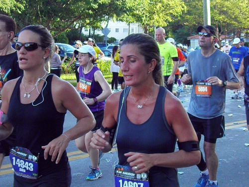 Miami Marathon runners cross Belle Isle in 2013 race