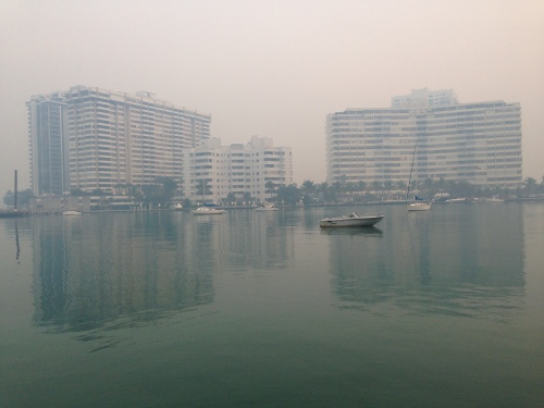 Smoky South Florida morning.