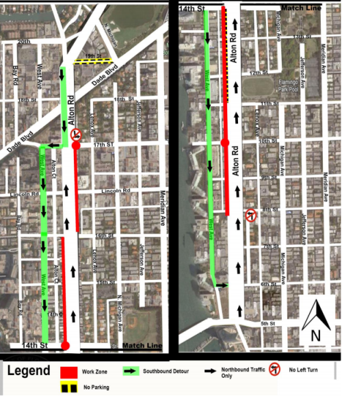 FDOT's recommended detours at 17th Street.