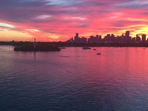 A Belle Isle sunset over Miami, no filter.
