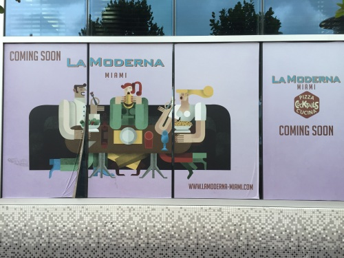 La Moderna is opening soon