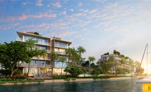 Rendering shows view from Biscayne Bay