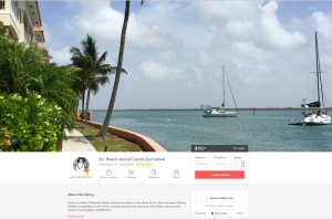 Airbnb listing for Belle Isle Key