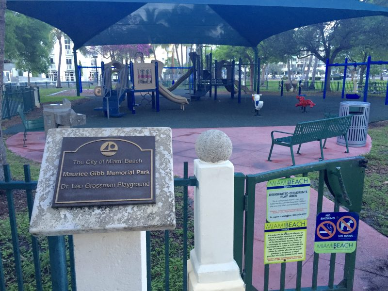 The playground at Maurice Gibb Memorial Park